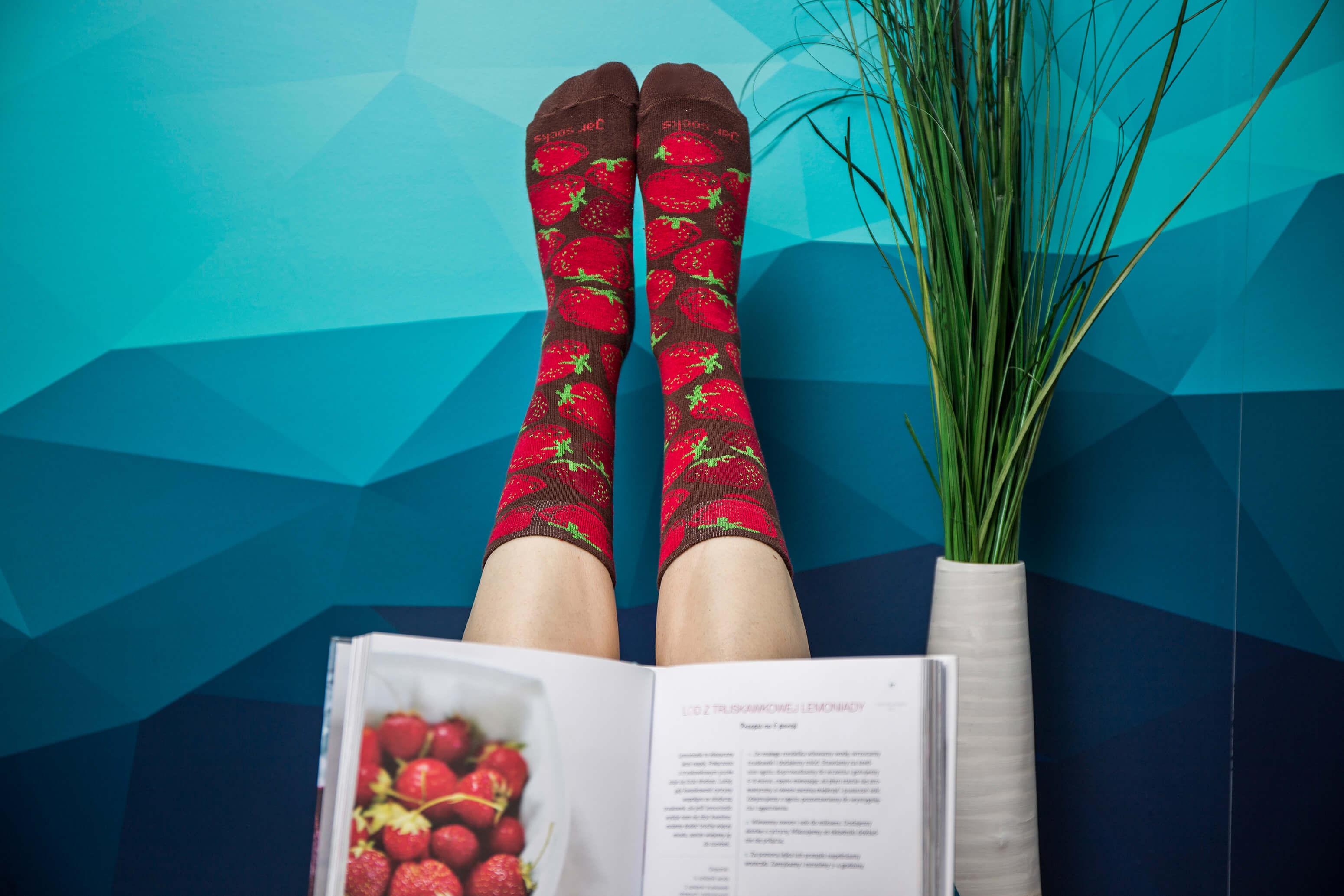 Strawberry Jar Socks